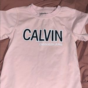 Calvin Klein pink and black Tshirt